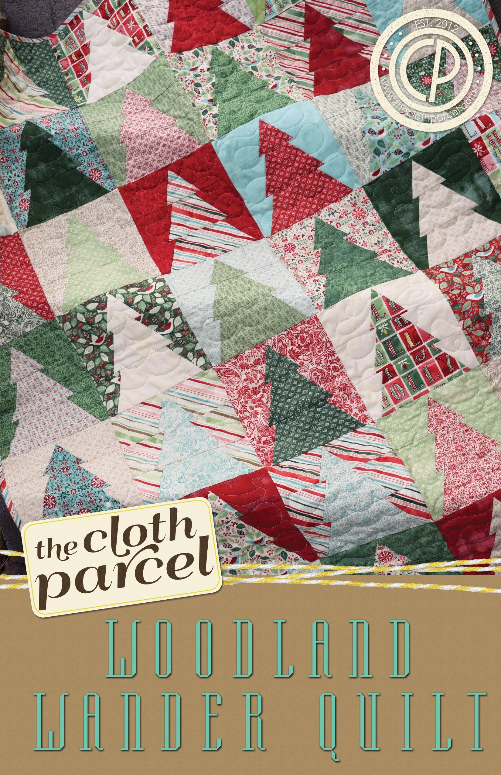 Woodland Wander Quilt PAPER Pattern Holiday quilt