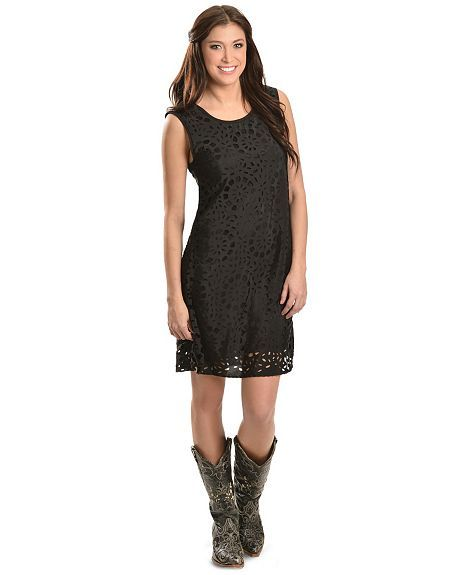 a0f5cf8e350b3c RU Cowgirl Catlin Black Cut Out Dress Country Girl Style, Western Style,  Country Girls