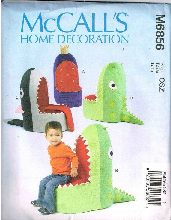 Child Whale Shark Chair Sewing Pattern for Kids Stuffed Children ...