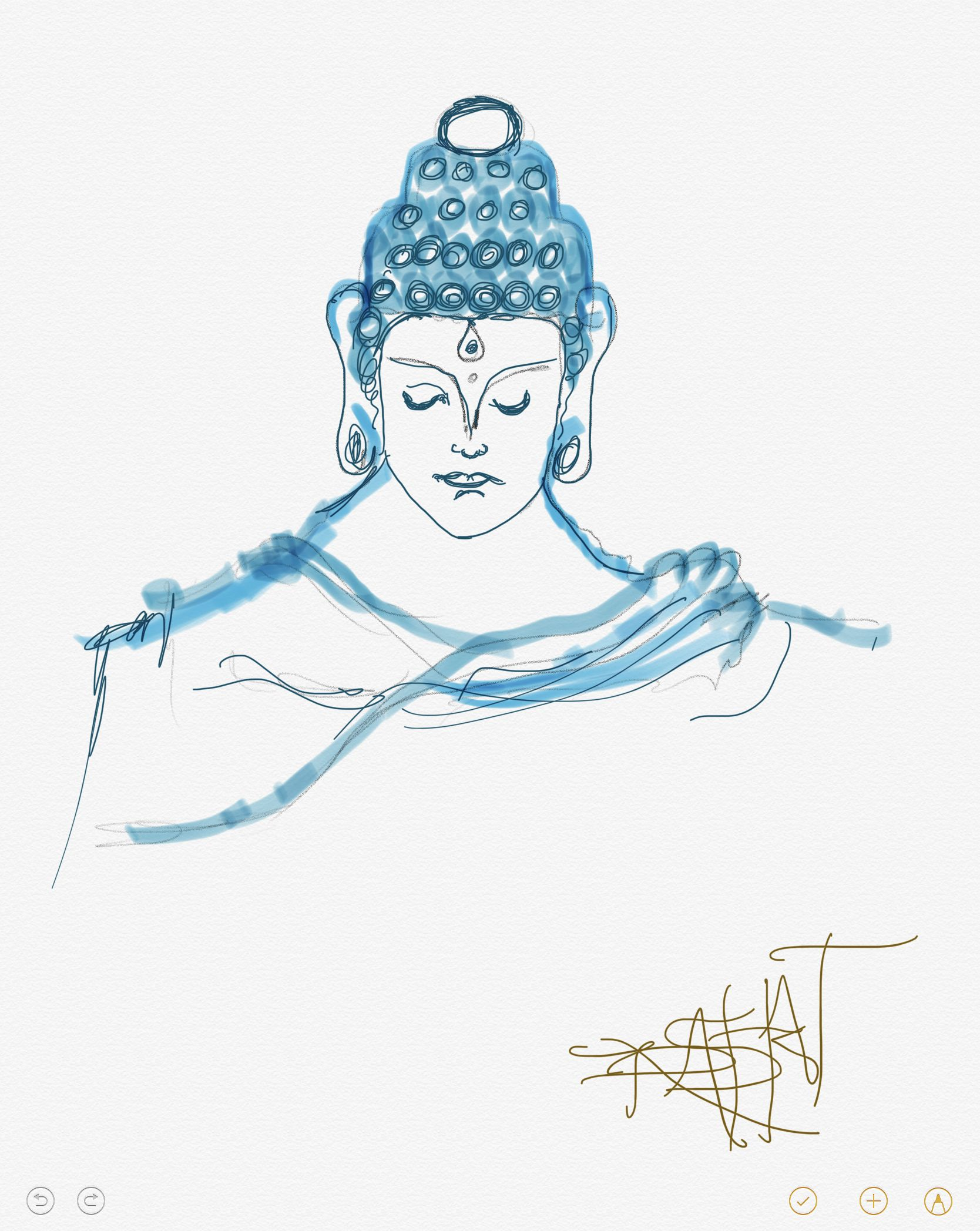 Buddha Simple Drawing Apple Pencil Engineering Sketches Drawing
