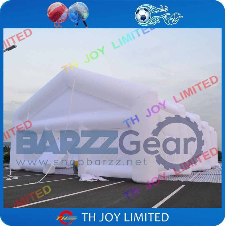 Inflatable White Event Tent, 49Lx26Wx13H ft