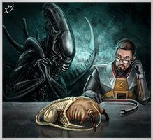 Headcrab Facehugger Headhugger By Frostbite23 Half