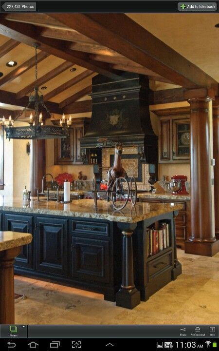 Two Tone Cabinets Chiseled Edge Granite Home Decor That