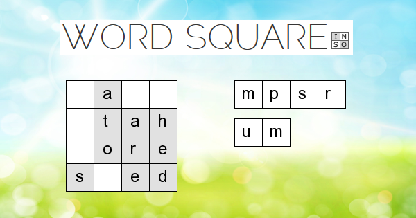 Word Square Sudoku but with letters and words. (With
