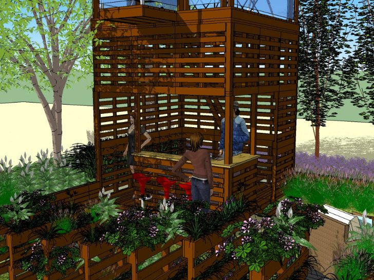 Shipping Pallet Garden Wows Visitors At The Canada Blooms