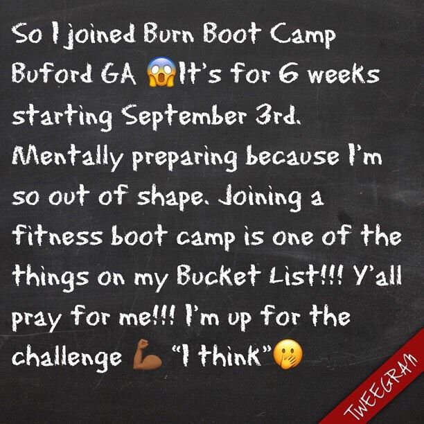 @burnbootcampbufordga   y'all take it easy on me lol...   #fitness     #motivation     #itsalifest...
