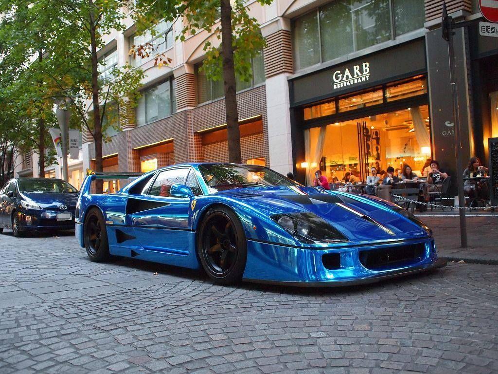 View Ferrari F40 Blue Wallpaper  Gif