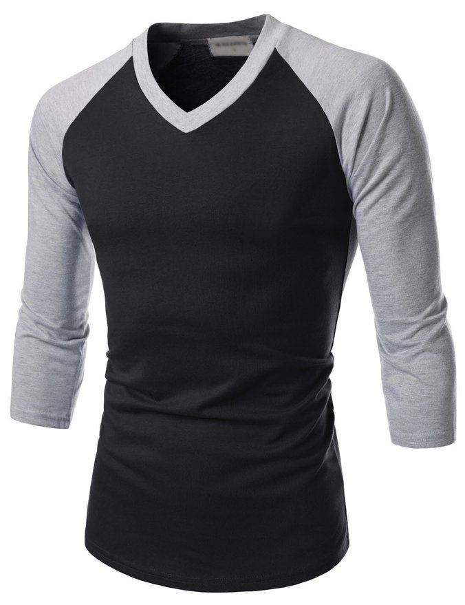 TheLees Prime Unisex Slim Fit Raglan Sleeve V-Neck T-shirts