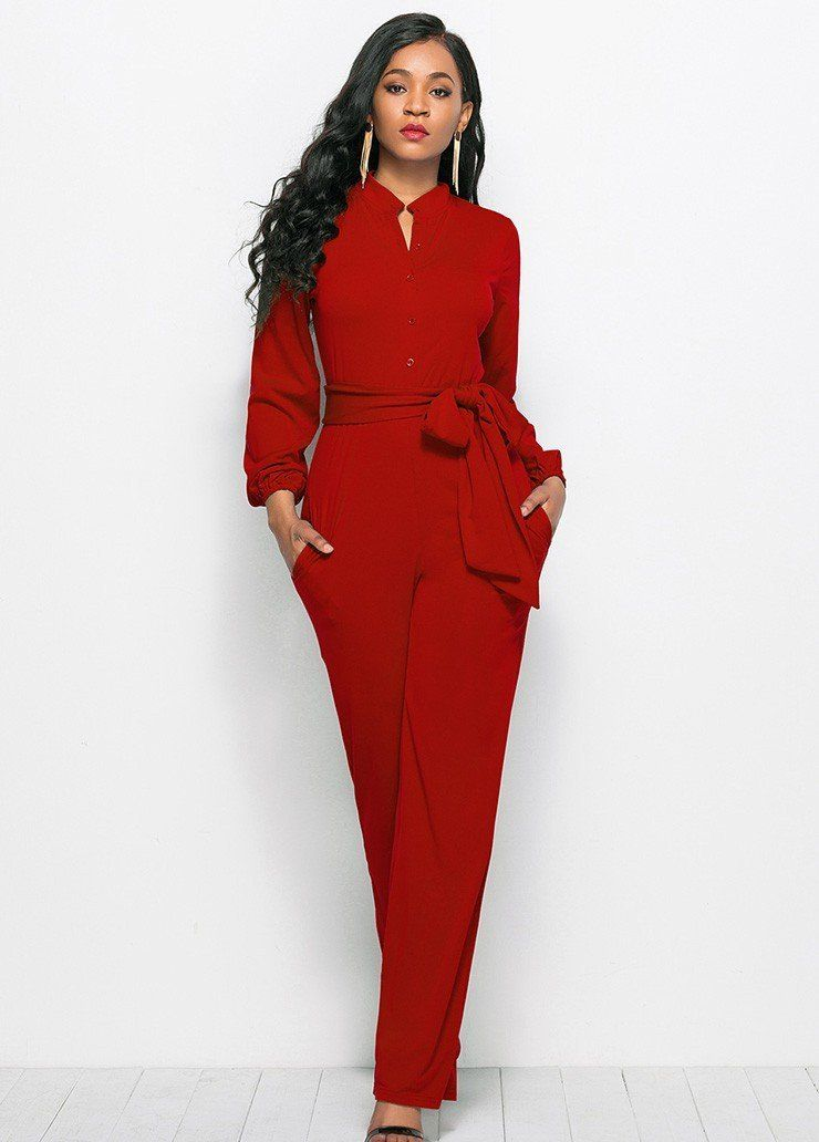 8688cefb1d4 Highlight with Long Sleeve Pencil Jumpsuit, this Long Sleeve Pencil is so  sexy will make you look charming in every event you attend. With…