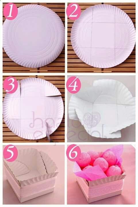 Caixa de prato de papel
