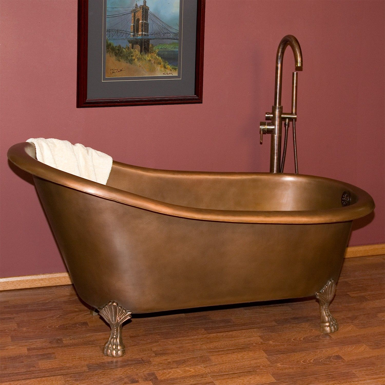Norah Victorian Copper Slipper Clawfoot Tub
