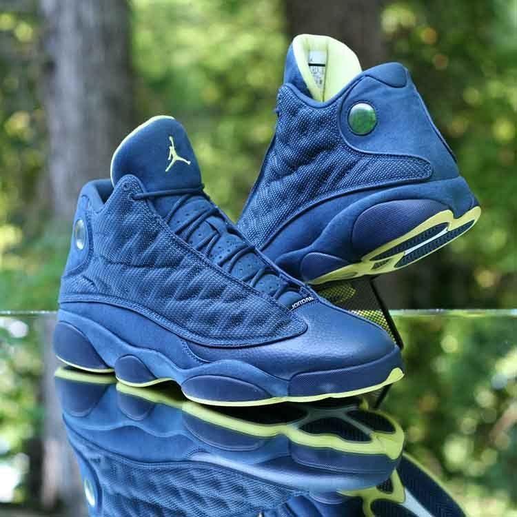 "c41bbdc5eb2b Nike Air Jordan 13 Retro ""Squadron Blue"" Yellow-Black 414571-405 Men s Size  13  Nike  BasketballShoes"