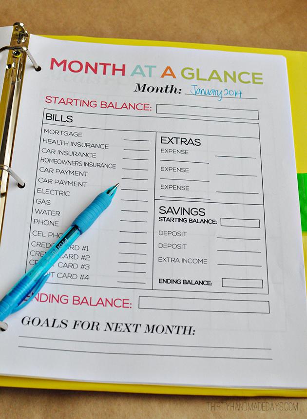 Printable Budget Binder – Free Printable Budget Worksheets