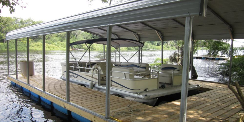 Enjoy a carport on your dock with http//www