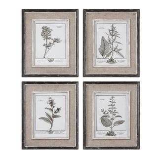 uttermost casual grey study framed art set4 overstock shopping top rated
