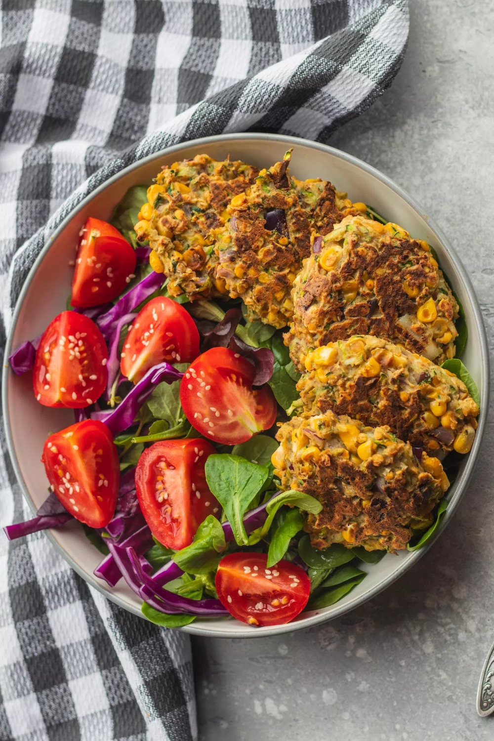Vegan Zucchini Fritters With Red Lentils (Gluten-free)