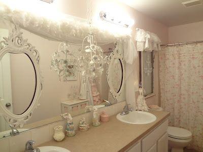 Fake A Window Shabby Chic Bathroom Accessories Chic Bathroom