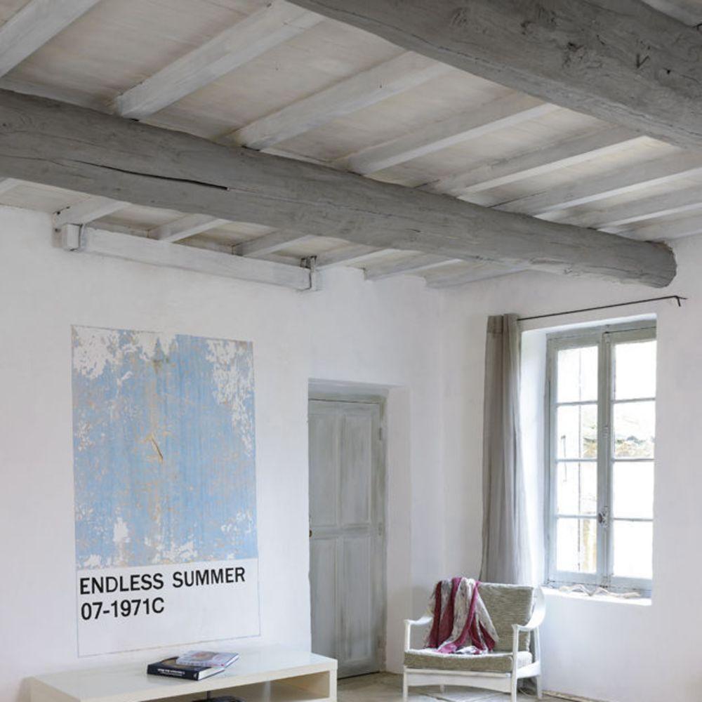 repeindre un plafond avec poutres en bois apparentes. Black Bedroom Furniture Sets. Home Design Ideas