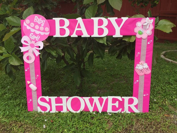 Marvelous Bay Shower Baby Girl Photo Frame Cuadro Tematico Made By Thelma Villa