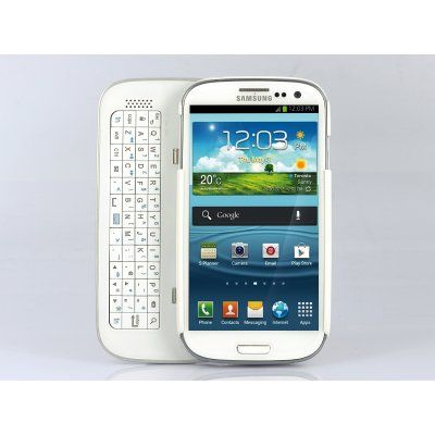 Wireless Slide Out Bluetooth Keyboard With Detachable Case For Samsung Galaxy S4 White Phone Bluetooth Keyboard Cell Phone Accessories