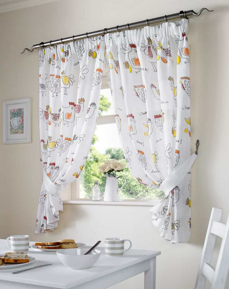 Chickens Kitchen Curtains Red in 2019   Citation   Country ...