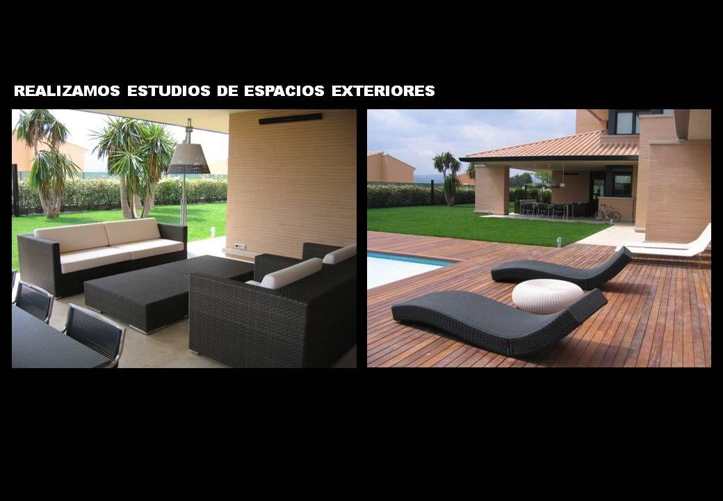 Casas moderno exterior jard n piscina porche sillas for Lamparas porche exterior