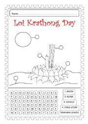 loy krathong coloring pages - photo#11