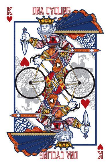 Dnacycling Bike King Card Ilustracao De Bicicleta Desenho De