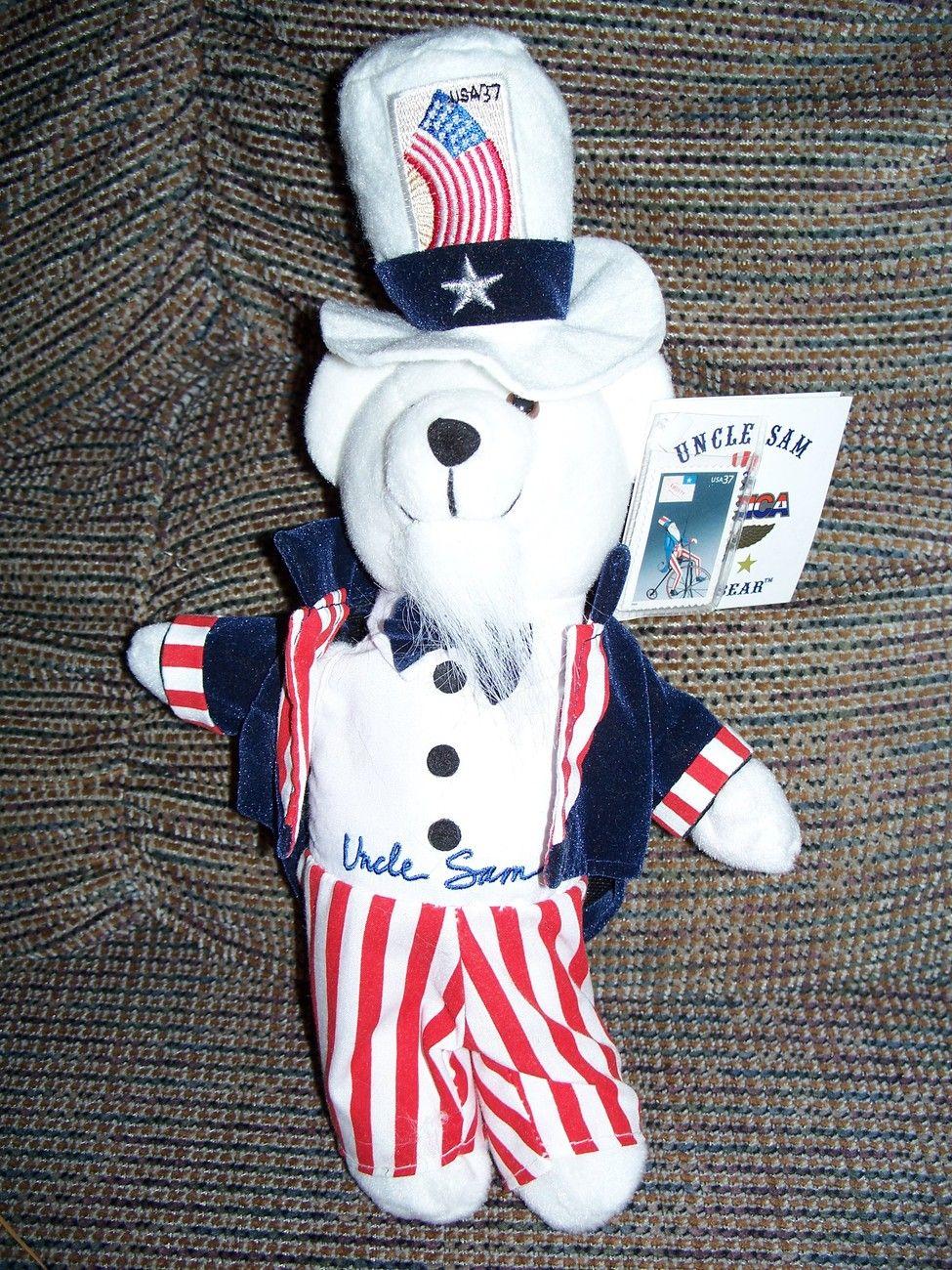 USPS Stamp Bear 37c Uncle Sam Bear w/tags stamp