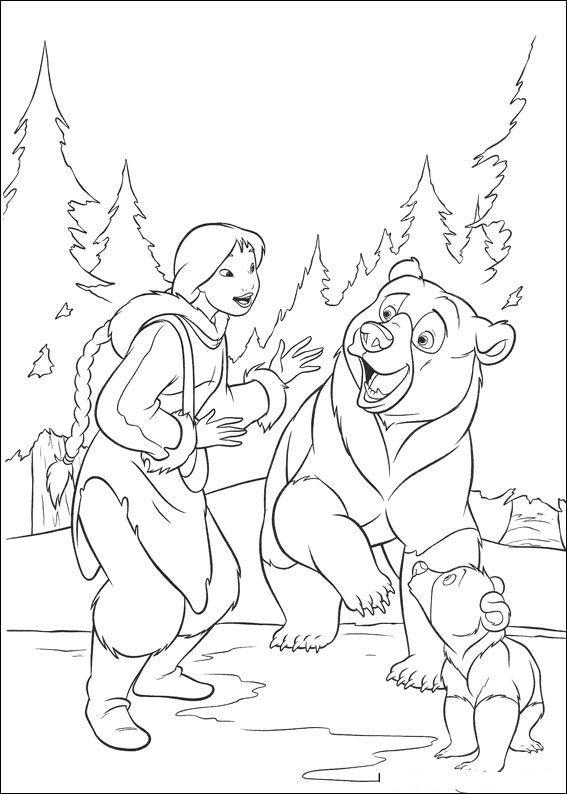 kleurplaat Brother bear 2 - Brother bear 2   Coloring   Pinterest ...