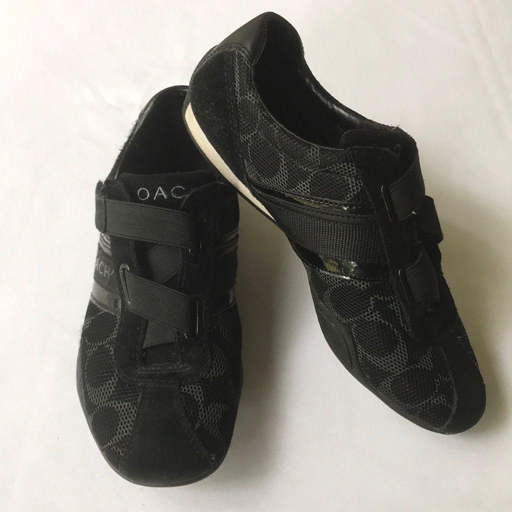 Coach Jenney black Velcro sneakers 7.5