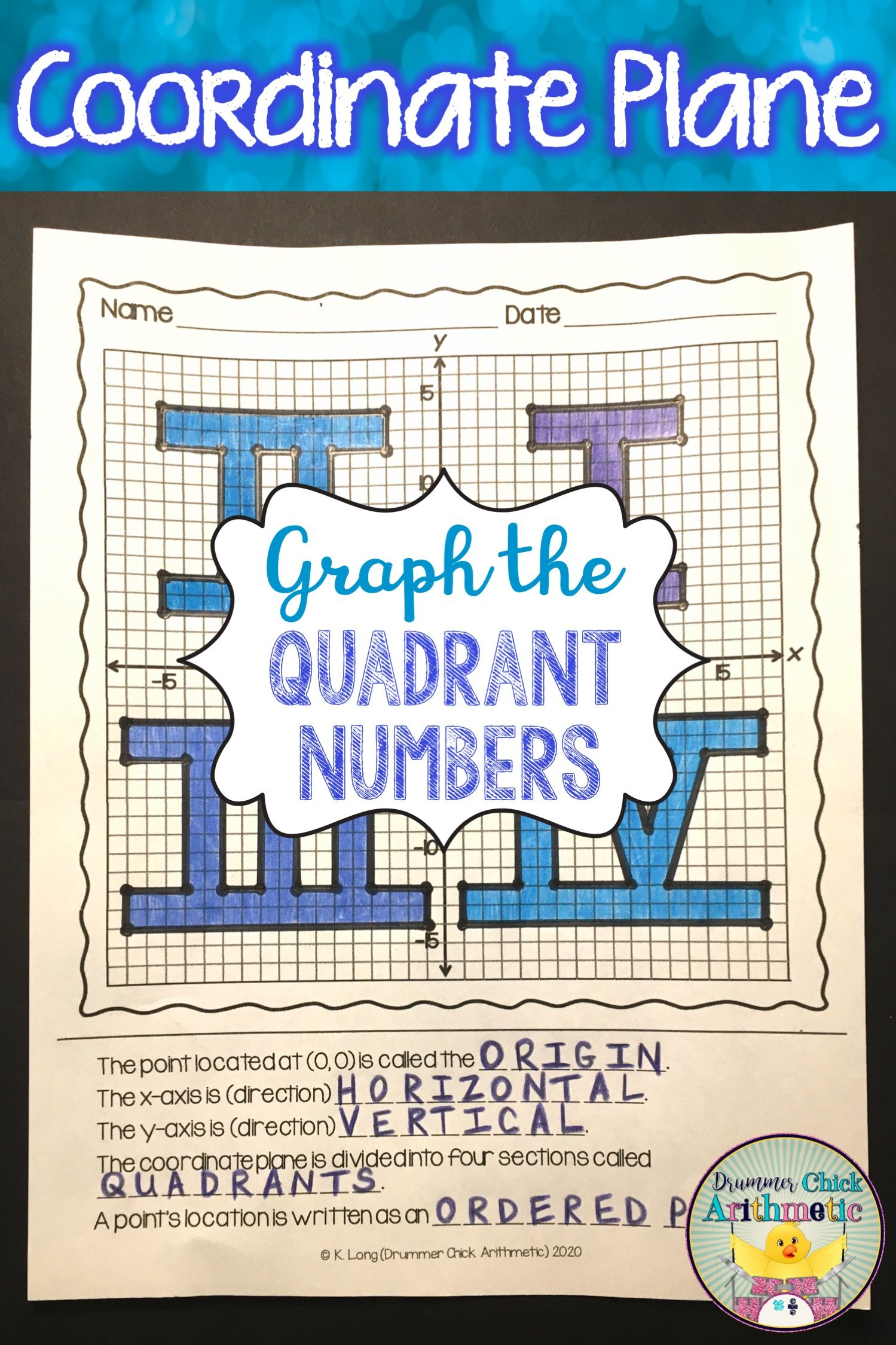 Coordinate Plane Graphing Picture In