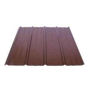 Fabral Shelterguard 12 Ft Exposed Fastener Galvanized Steel Roof Panel In Cocoa Brown 0410117172 The Home Depot Fibreglass Roof Steel Roof Panels Roof Panels