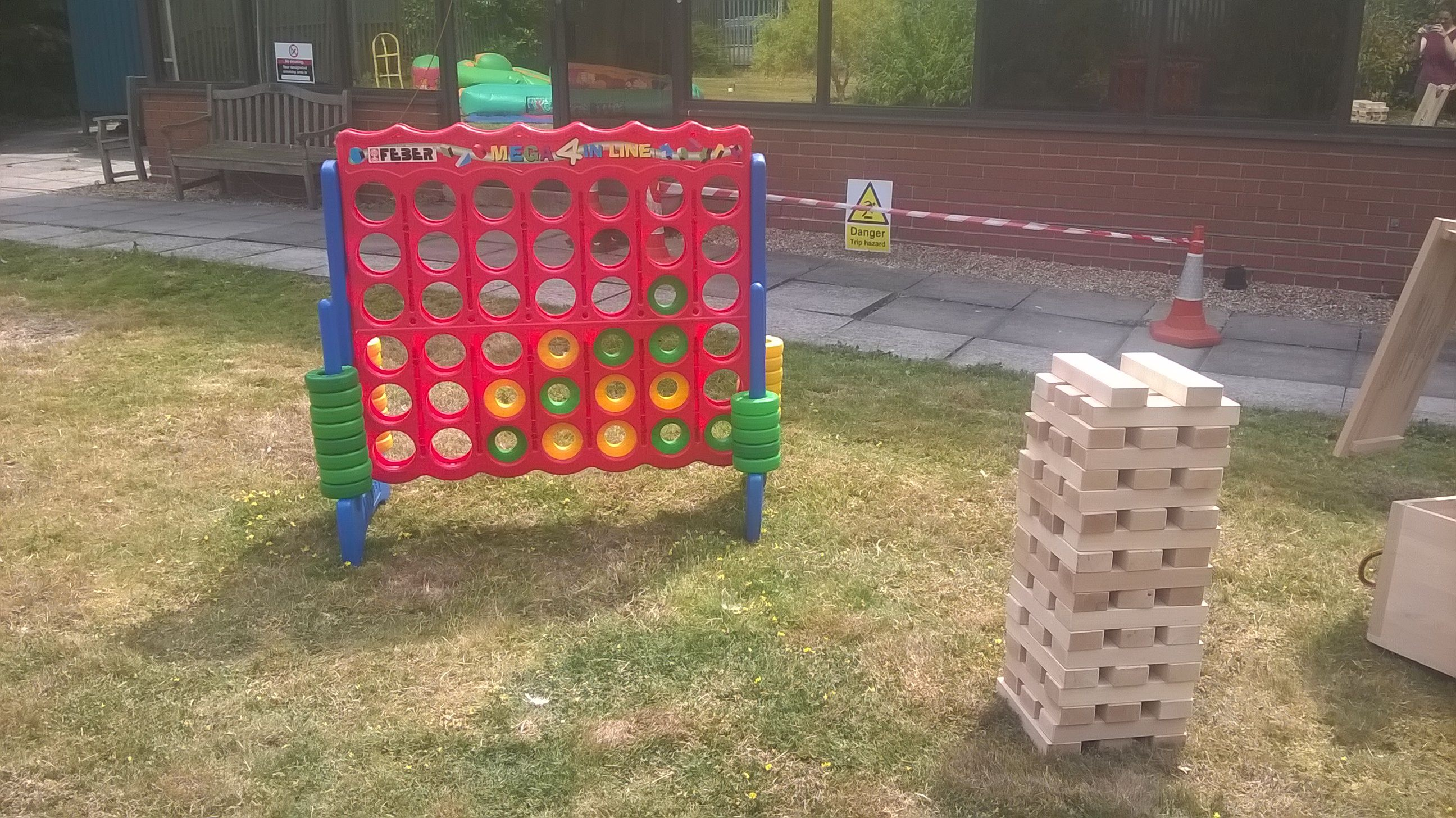 Giant Jenga And Giant Mega 4 Connect 4 Hire Charge 20 Each Or Only 10 Each When Booked With A Bouncy Castle Giant Garden Games Giant Jenga Bouncy Castle