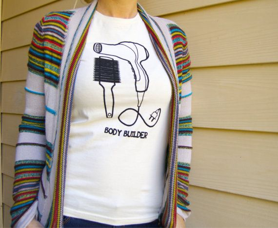 Womens 'Body Builder' Organic Fine Jersey Tee by KaioteDesigns