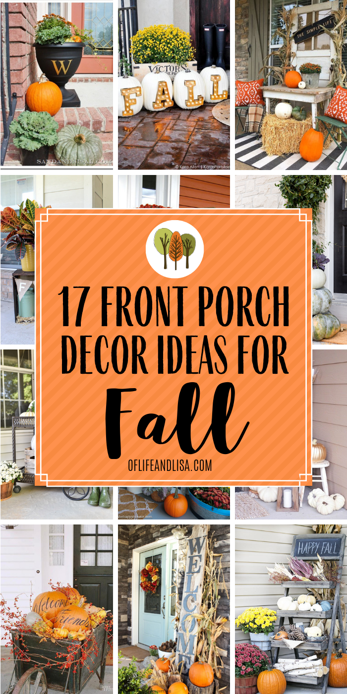 17 Beautiful Front Porch Ideas for Fall #falldecorideasfortheporch