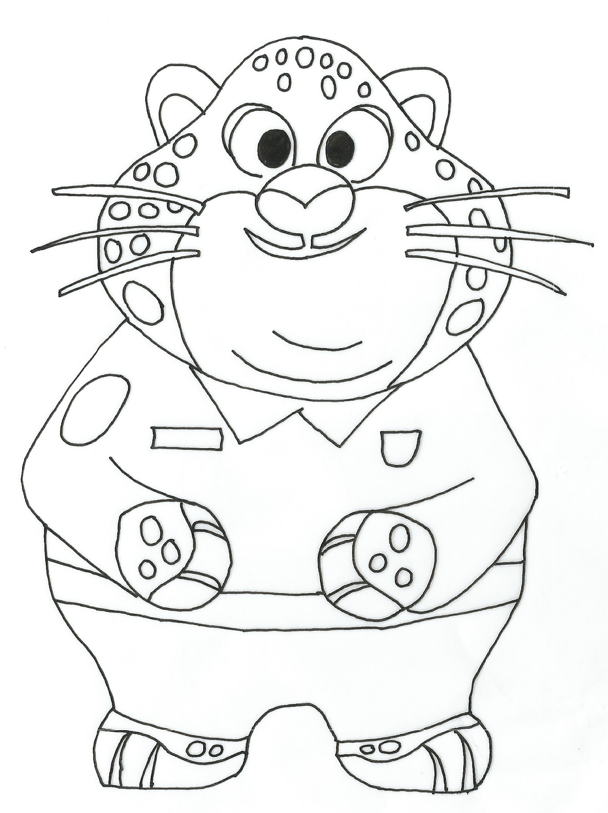 Zootopia Free Printable Coloring Pages