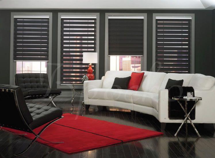 zebra light filtering and room darkening sheer roller shades