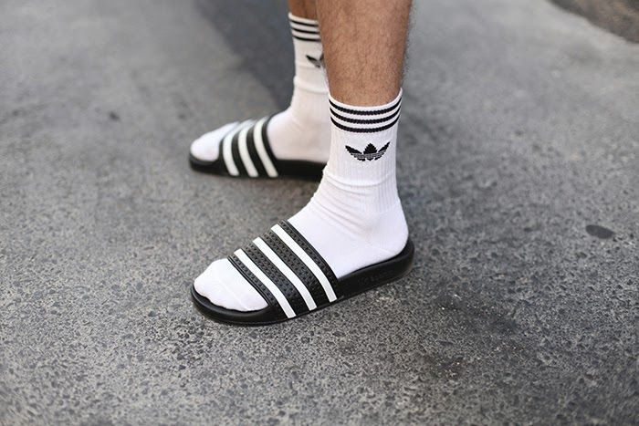 adidas flip flops with socks - Google Search