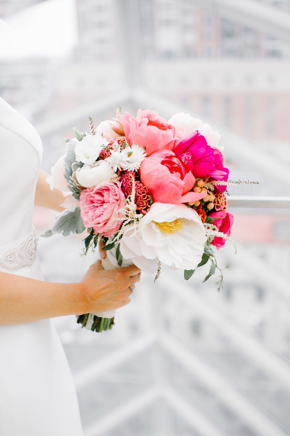 Large Blooms | Peony Bouquet | Philadelphia Wedding | Pink Bouquet ...