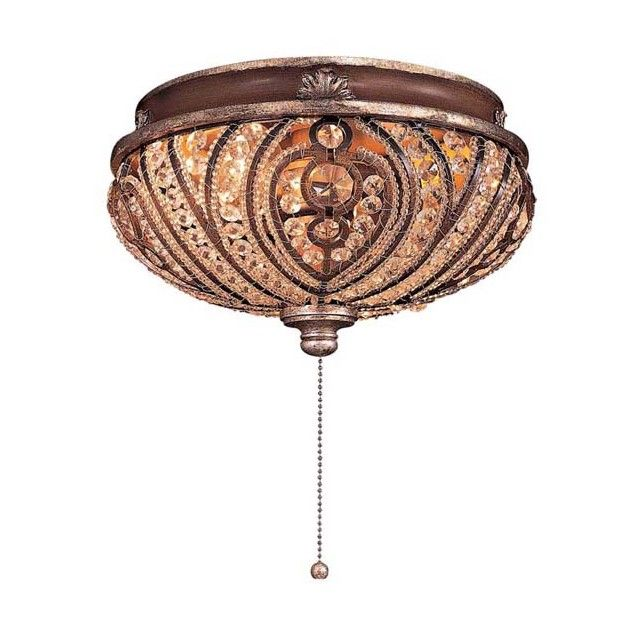 Minka aire two light crystal cut detail universal ceiling fan light kit now this would jazz up those plain ceiling fans