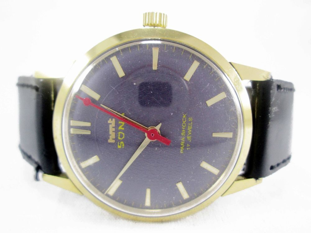 100% AUTHENTIC VINTAGE HMT SONA 17J WINDING WRIST WATCH FOR MENS WEAR HS-8 #HMT…