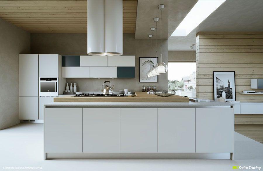 30 Foto di Cucine Bianche e Legno dal Design Moderno | Cucine ...