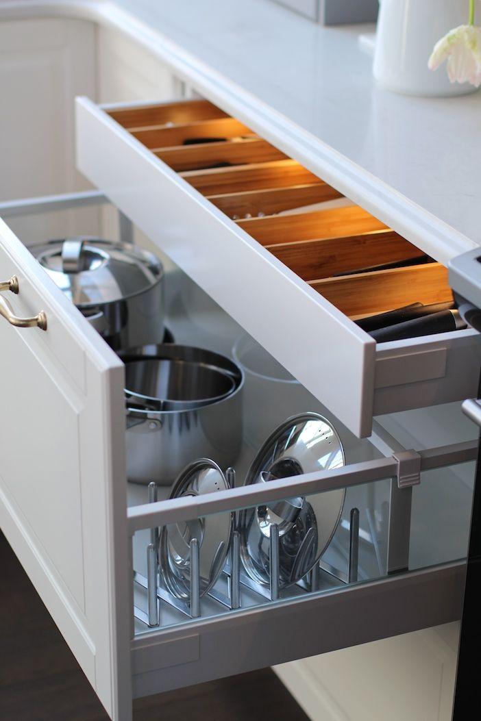 Jillian Harris Ikea Sektion Kitchen Pots Pans Lids And