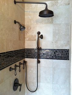 Shower Head Handheld Sprayer And Door Placement