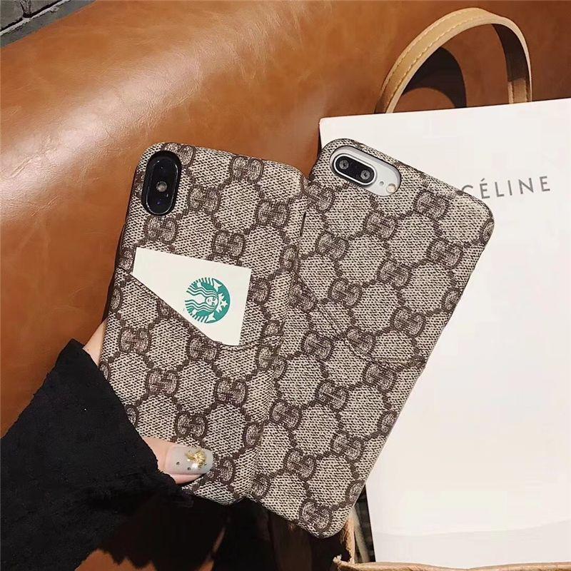 397d3e8ea3c5 ハイブランドビジネス風シンプル アイフォンXケースiPhone7plusグッチ保護カバー6sスマホケース8plusカード