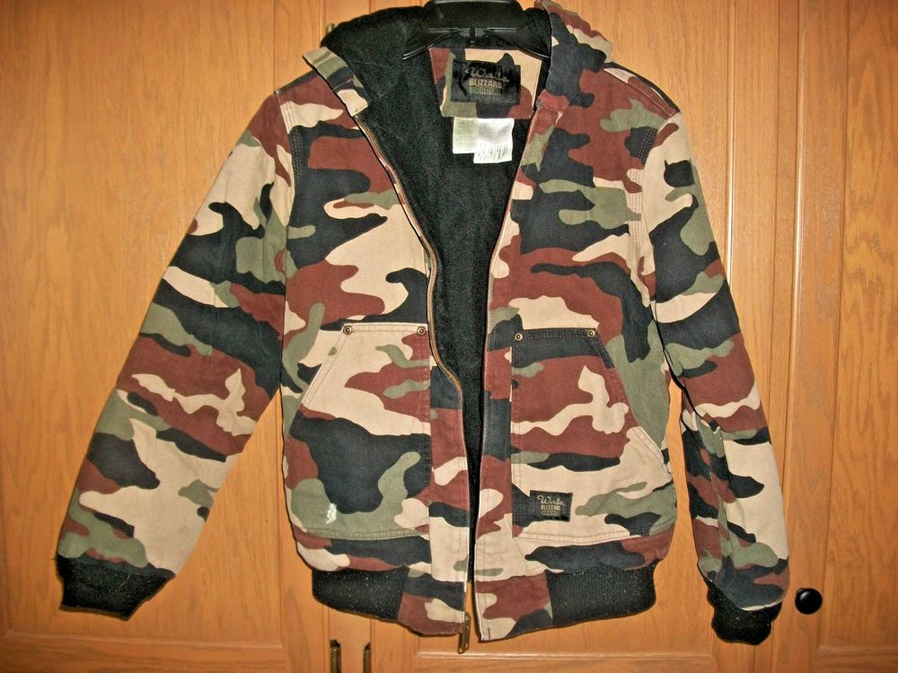 walls blizzard pruf coat camo jacket hooded insulated coat on walls hunting clothing insulated id=50529