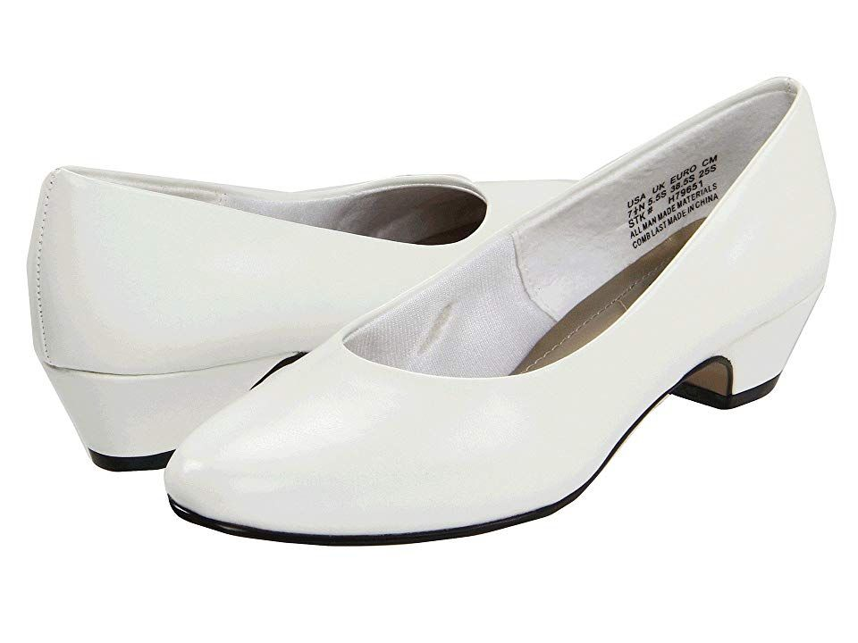 inch heel Shoes White Smooth