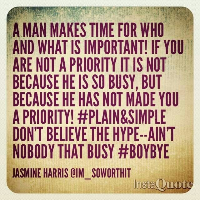 dating not a priority