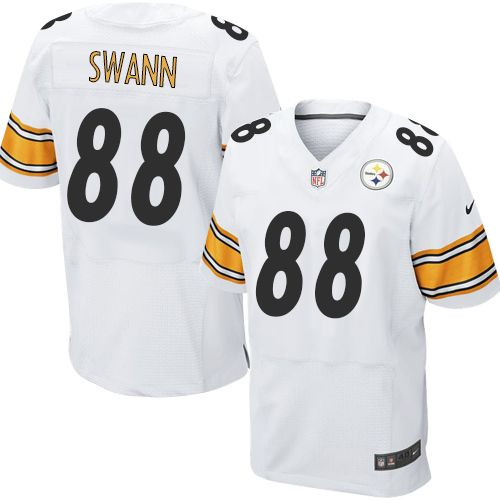 6d71147a2f8 Lynn Swann Men s Elite White Jersey  Nike NFL Pittsburgh Steelers Road  88